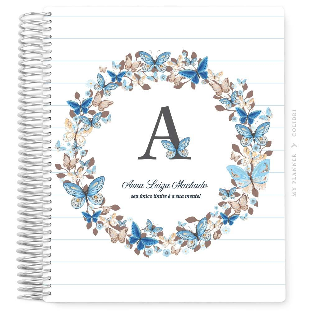 My Planner Sem Data Borboletário Monograma