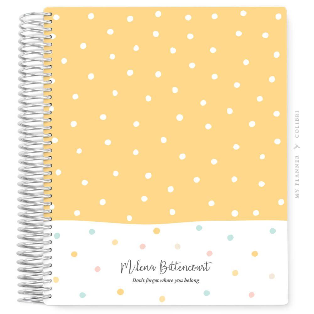 My Planner Datado 2022 Dots Color Sunny