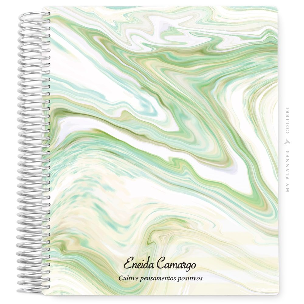 My Planner Sem Data Marble Green