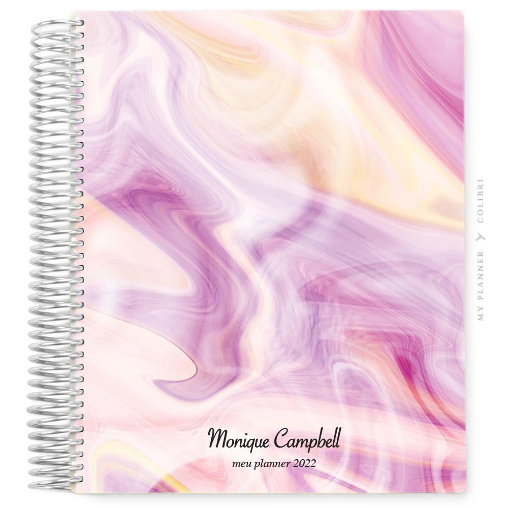My Planner Datado 2022 Marble Pink