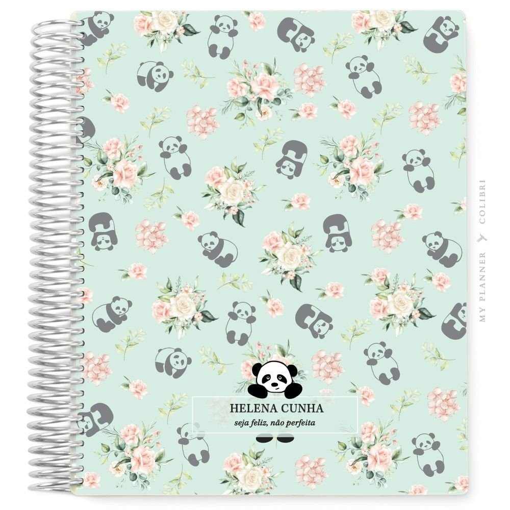 My Planner Sem Data Pandinha Floral II