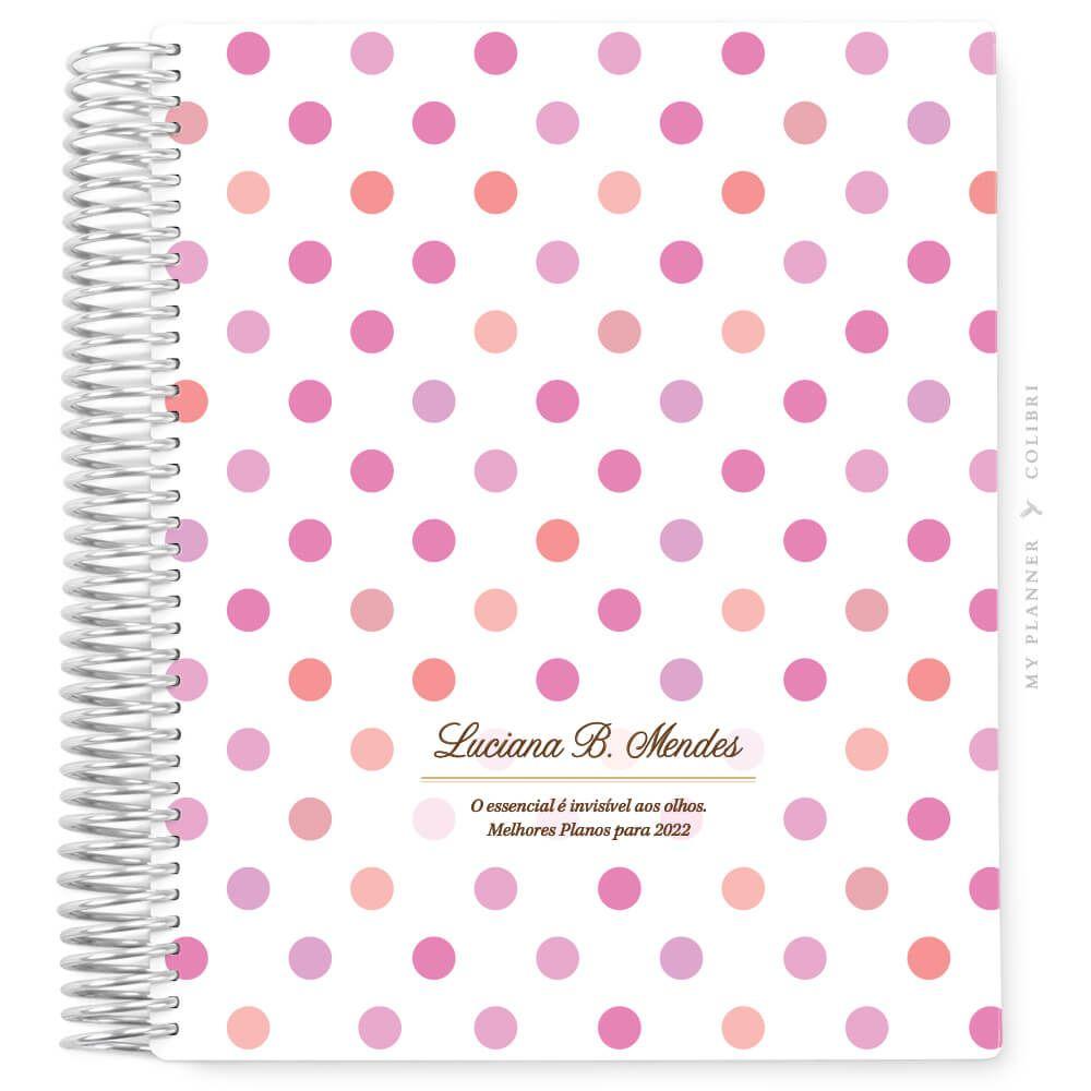 My Planner Datado 2022 Poá Pink