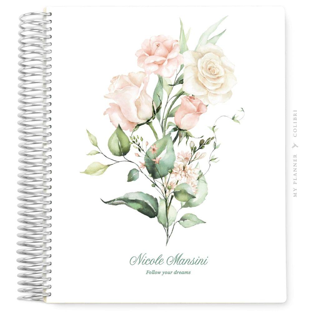 My Planner Datado 2022 Rose Flower Love I