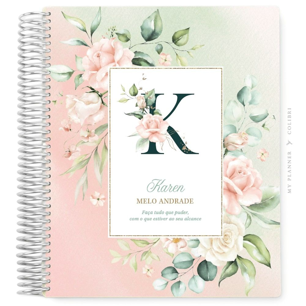 My Planner Sem Data Rose Flower Love IV